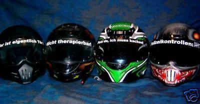 Visier Aufkleber, Helm, Motorrad, Roller, Kart 25cm!