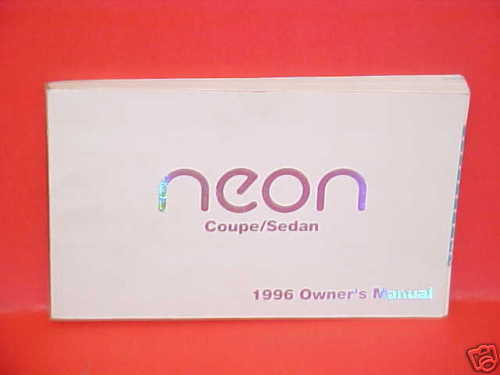 1996 DODGE NEON COUPE SEDAN OWNERS MANUAL GUIDE BOOK 96