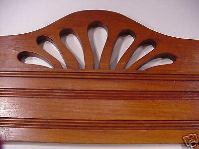 Jugenstil  Arts & Crafts Hand Carved Wood Crown Topper Mantel Molding Antiques 12