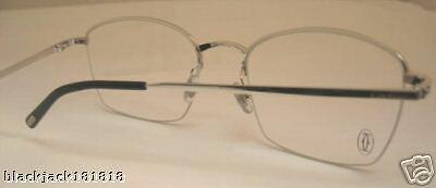 e5a69ec7b9cd New Cartier Semi Rimless Platinum Eyeglasses T8100617 France 6 6 of 6 See  More