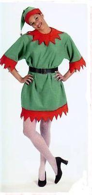 Christmas Elf Suit Tunic Costume - Santa's Elf Costume O/S Adult Halco 1100 NWT - Elf Suit