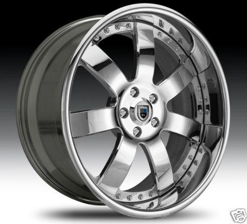 AF121 AF 121 Chrome Multi 2 Piece Rims Wheels Tires Package