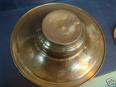 Antique Islamic  Syrian/ottoman Pitcher&bowl Set Copper Inlaid Silver. 3