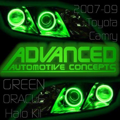 GREEN 07+ Toyota Camry Headlight HALO Kit Demon Eye Kit